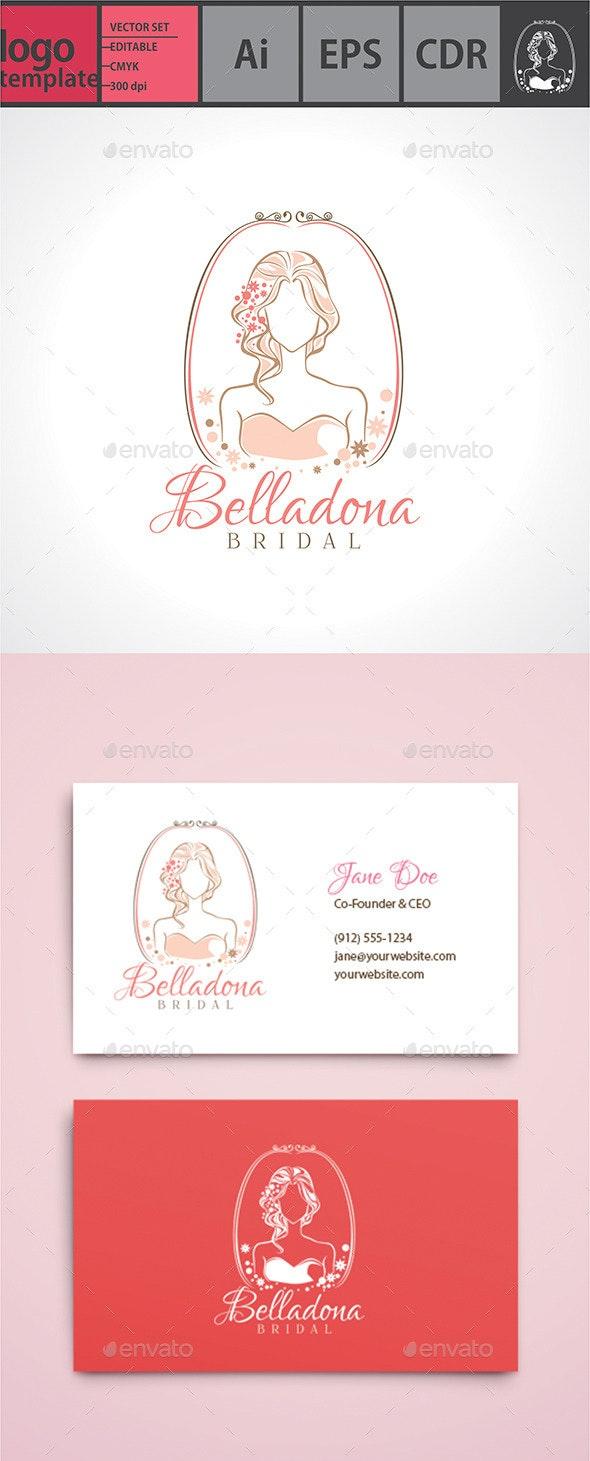 Belladona - Bridal Logo  - Humans Logo Templates