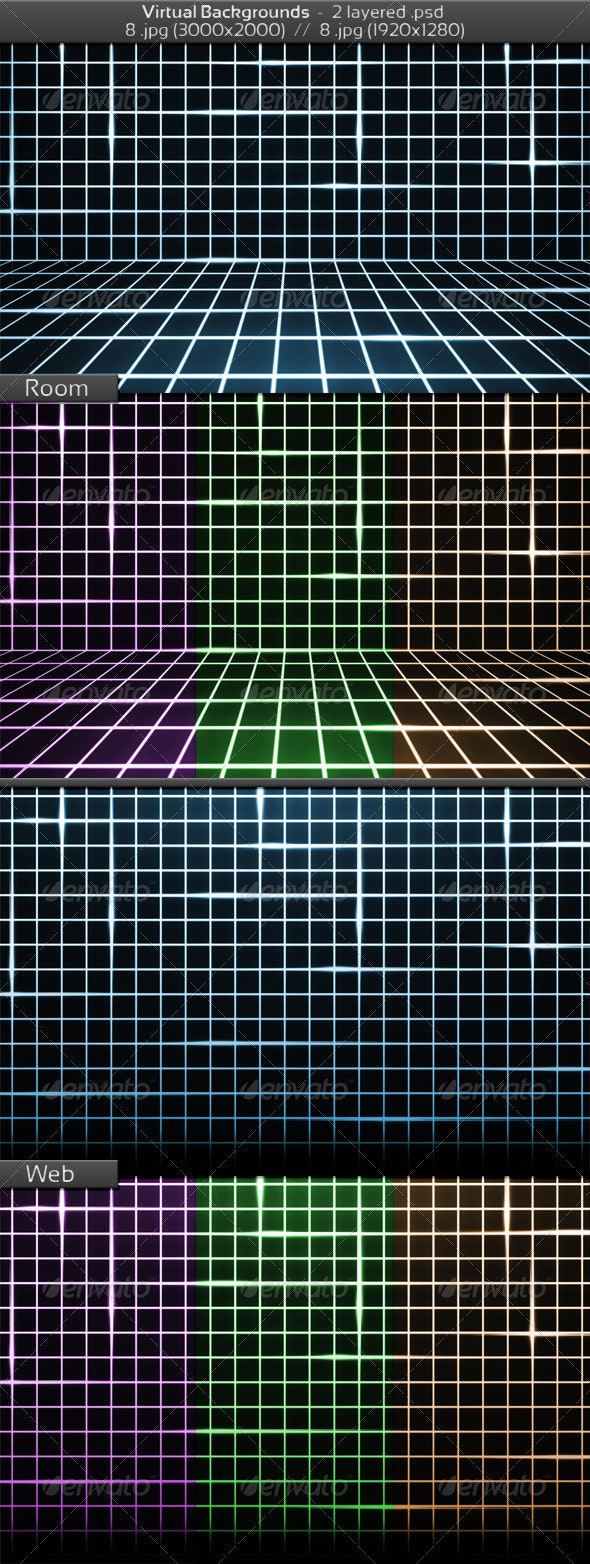 Virtual Room Background - 3D Backgrounds