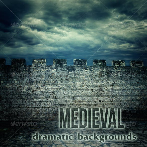 Medieval Wall Dramatic Backgrounds
