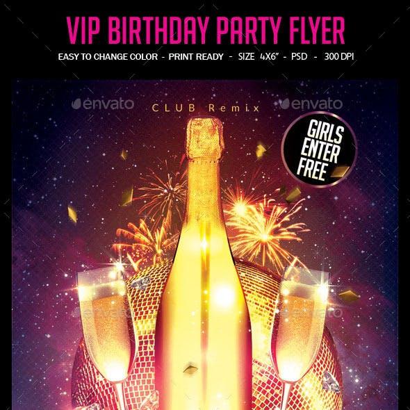 VIP Birthday Party Flyer