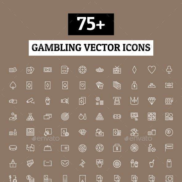 75+ Gambling Vector Icons