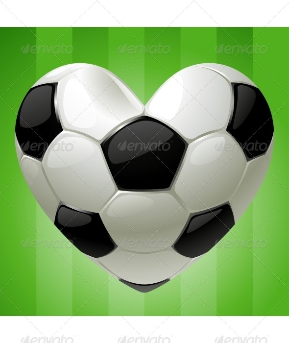 Ball for football in the shape of heart - Sports/Activity Conceptual