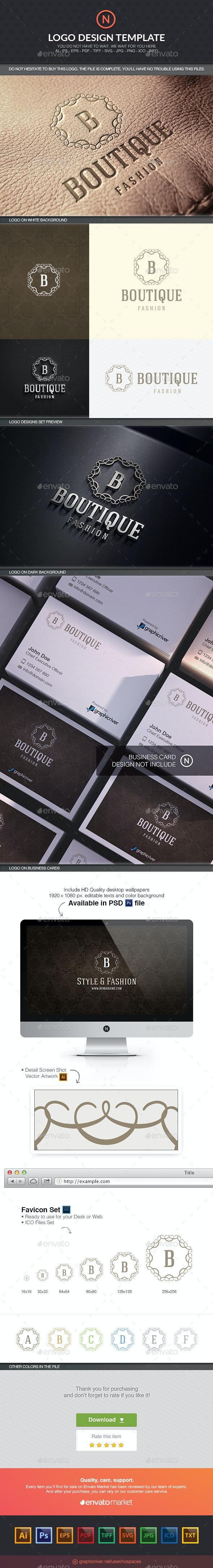 Boutique Fashion - Crests Logo Templates