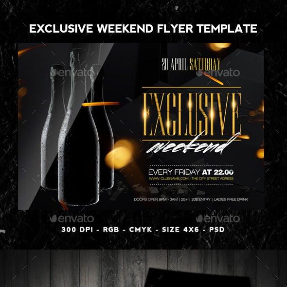 Exclusive Weekend Flyer