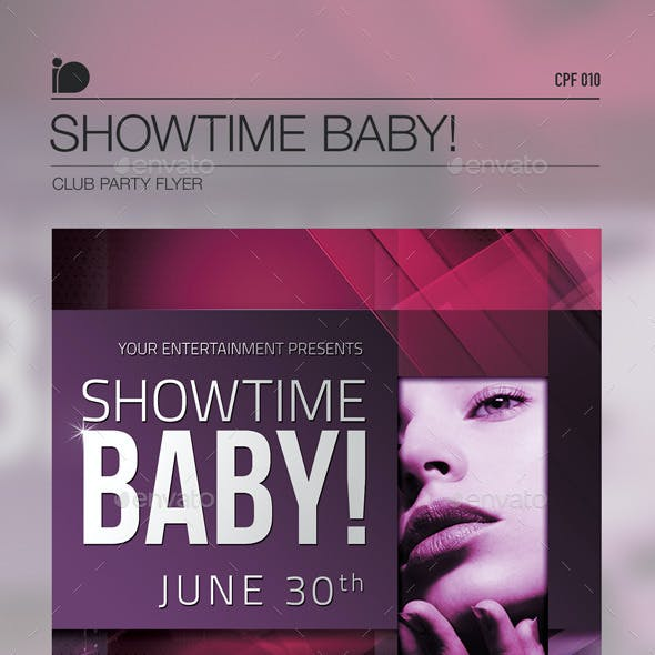 Club Party Flyer • Showtime Baby!