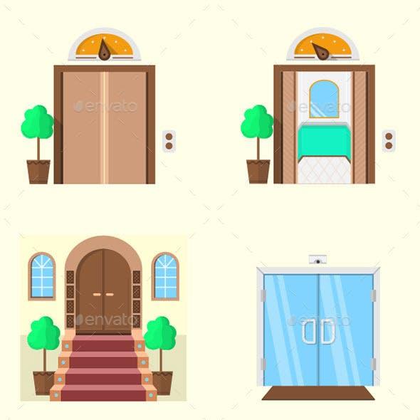 Stylized Door Icons