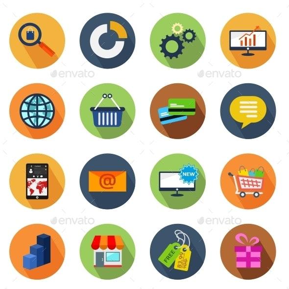 E-commerce Circle Icons - Web Icons