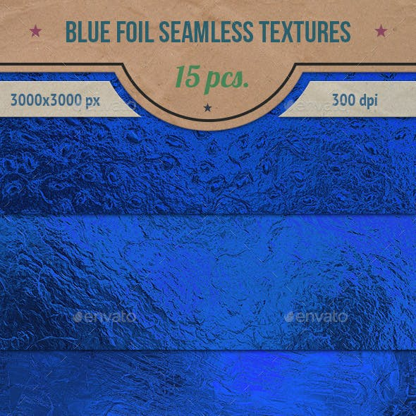 Blue Foil Seamless HD Textures Pack
