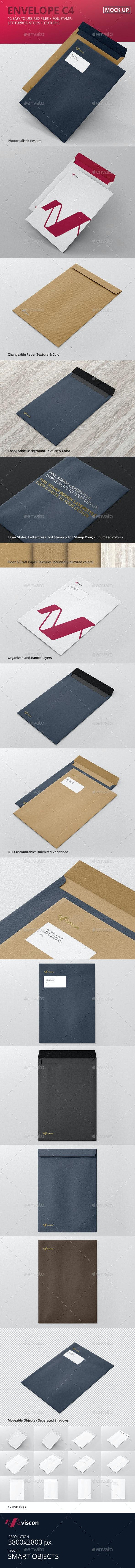 Envelope C4 Mock-Ups - Stationery Print