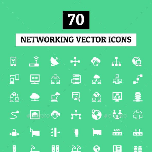 70 Networking Vector Icons