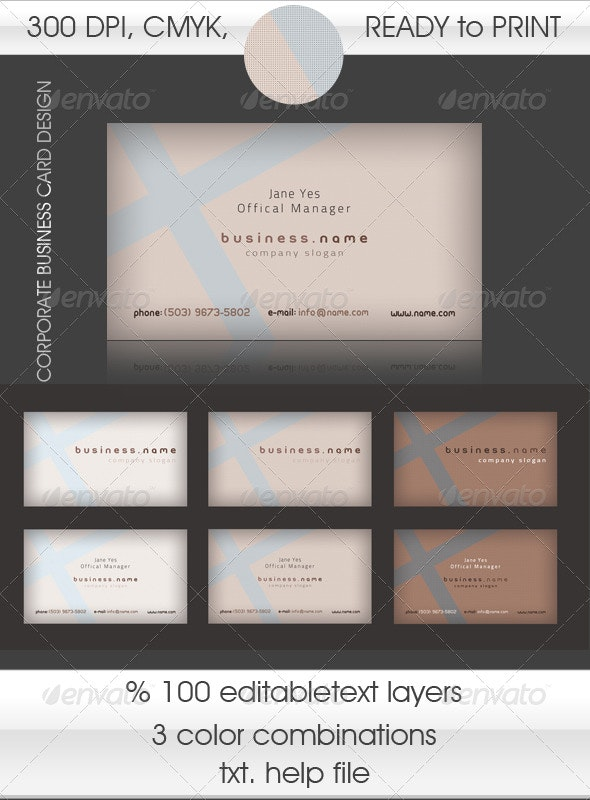 Corporate Card with Restful Colors - Corporate Business Cards
