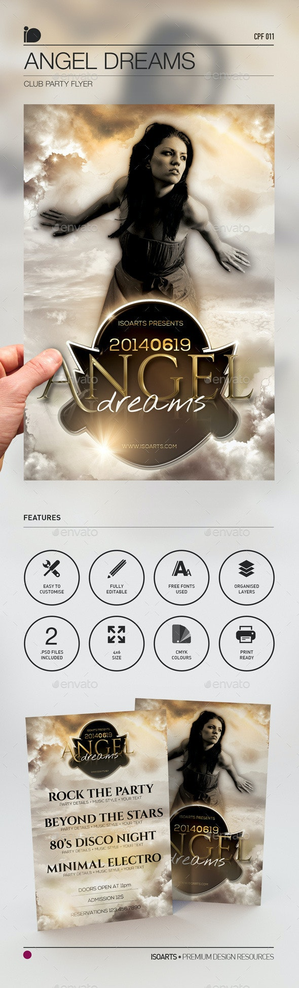 Club Party Flyer • Angel Dreams - Clubs & Parties Events