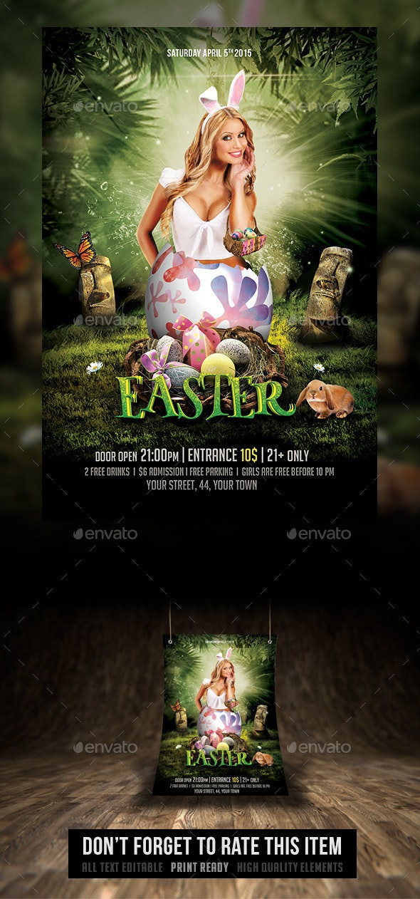Spring and Easter Flyer - Events Flyers