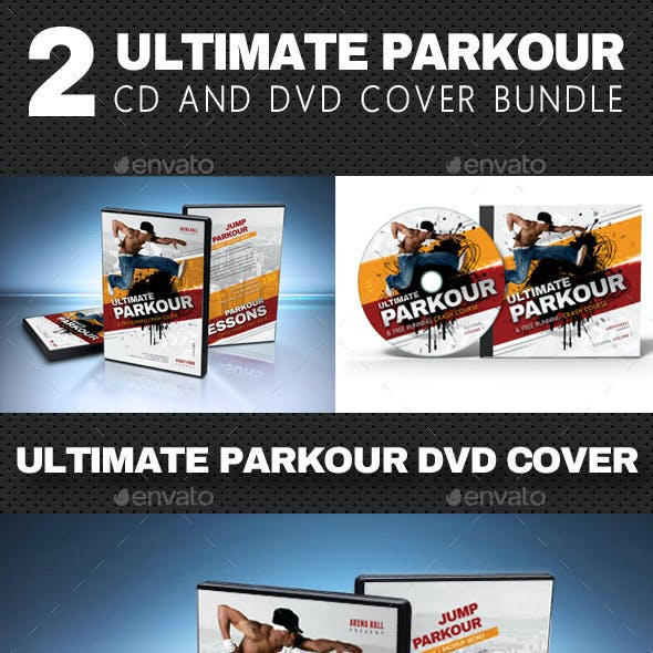 2 in 1 Ultimate Parkour CD and DVD Cover Bundle