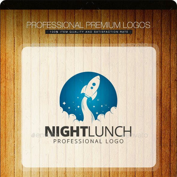 Night Launch Logo Template