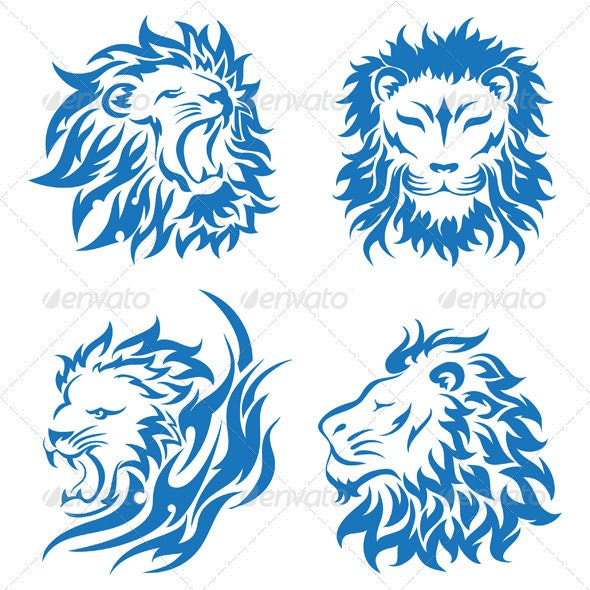 Lion heads - Animals Characters