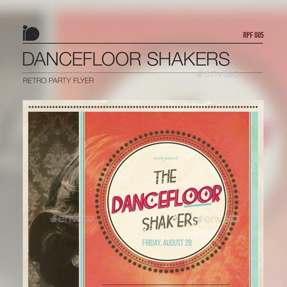 Retro Party Flyer • Dancefloor Shakers
