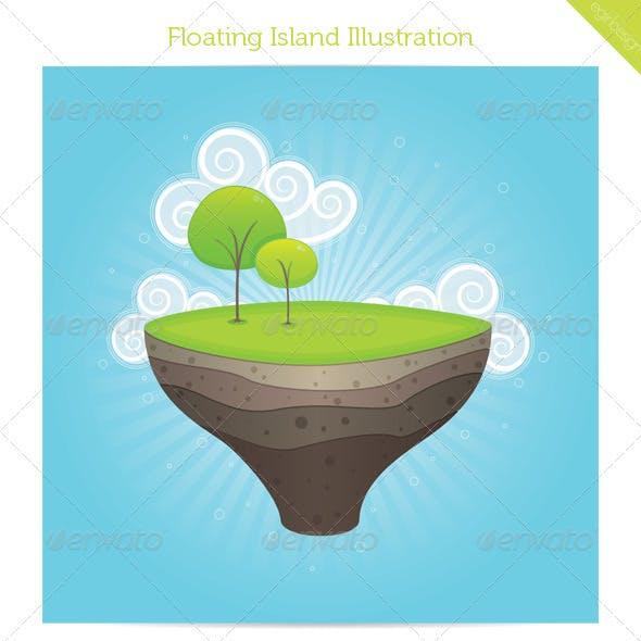 Floating Island Illustration