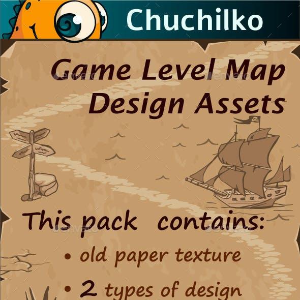 Game Level Map Design Assets