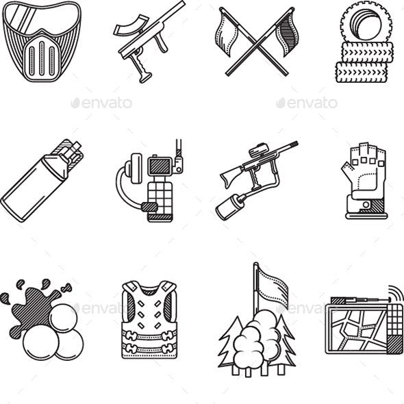 Icons for Paintball