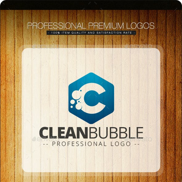 Clean Bubble Logo Template