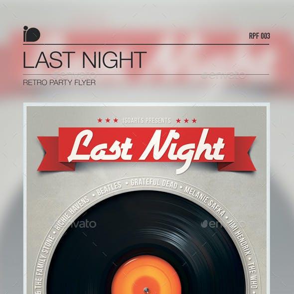 Retro Party Flyer • Last Night