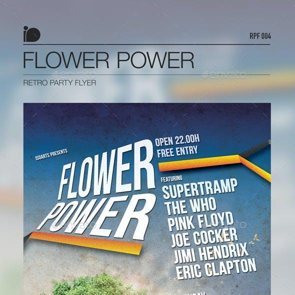 Retro Party Flyer • Flower Power