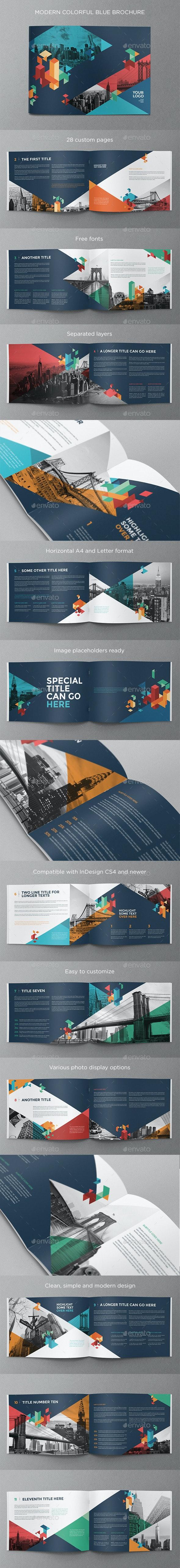 Colorful Blue Brochure - Brochures Print Templates