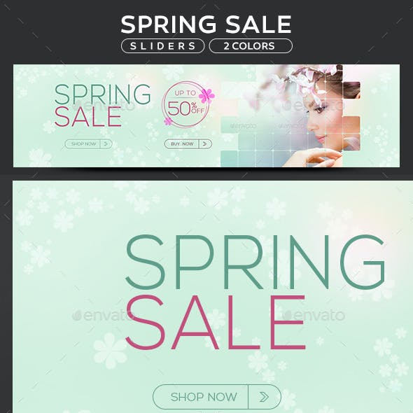 Spring Sale Sliders