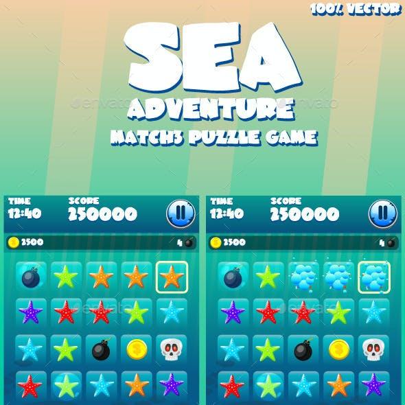 Sea Adventure Match3 Game Kit