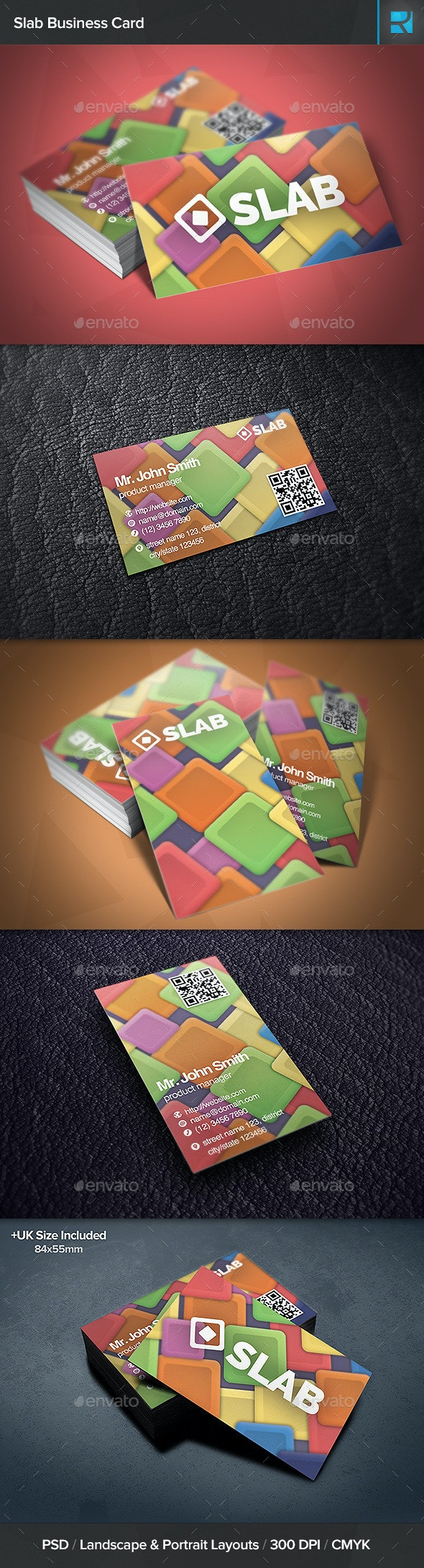Slab Business Card - Creative Business Cards