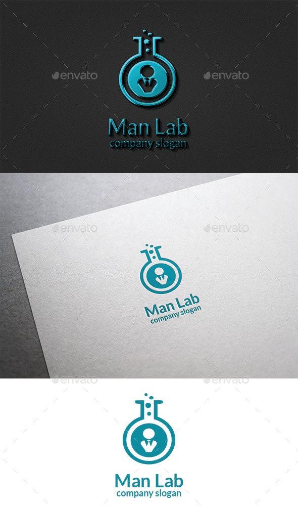Man Lab Logo - Vector Abstract
