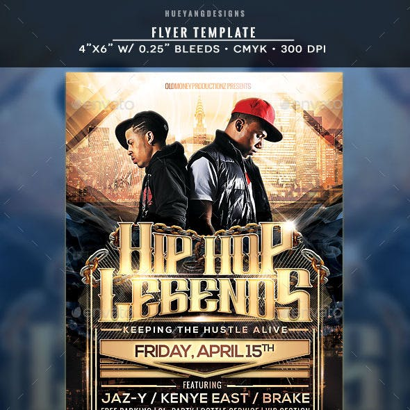 Hip Hop Legends Flyer