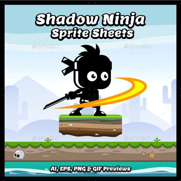 Shadow Ninja Character Sprite Sheets