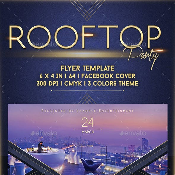 Rooftop Party Flyer Template