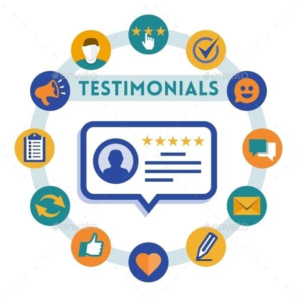 Customer Service and Testimonials Infographic