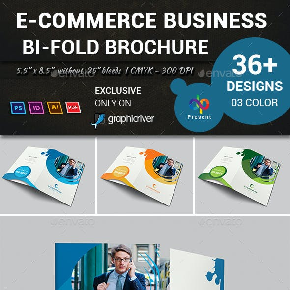 E-Commerce Business Bi-Fold Brochure