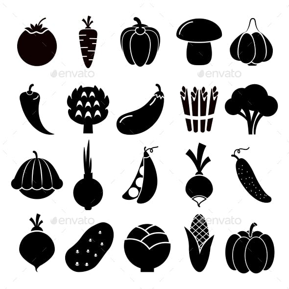 Vegetables Silhouettes