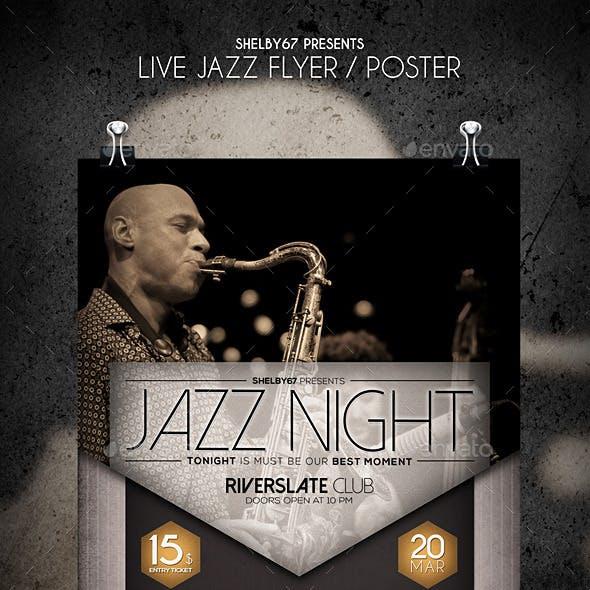 Live Jazz Flyer / Poster