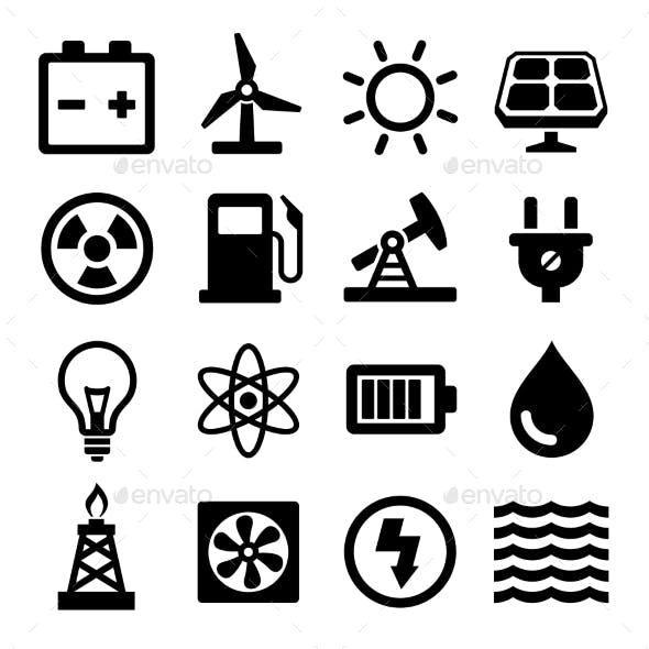 Energy Icons Set
