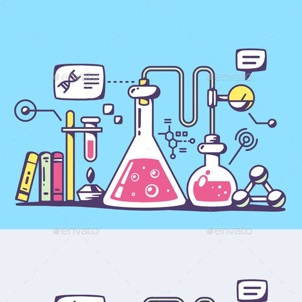 Chemical Laboratory Flasks