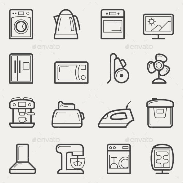 Home Appliances Line Icons
