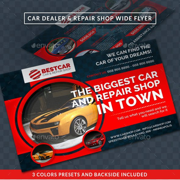 Car Dealer & Auto Services Commerce Wide Flyer