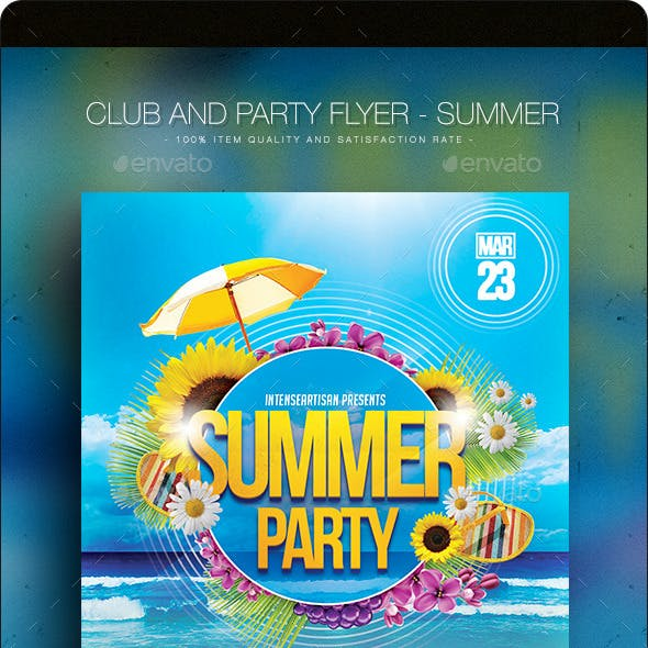 Summer V.2 - Club And Party Flyer