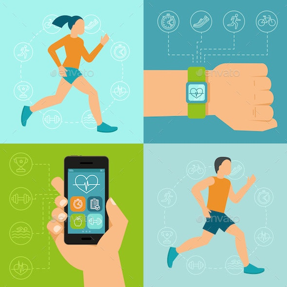 Fitness Icons - Sports/Activity Conceptual