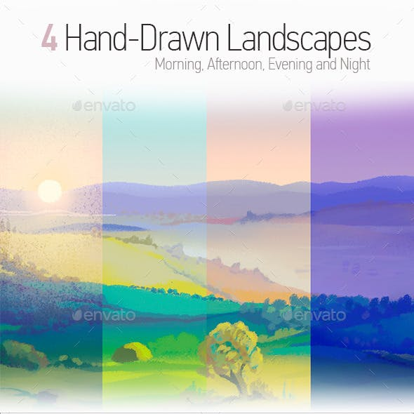 4 Drawn Landscapes