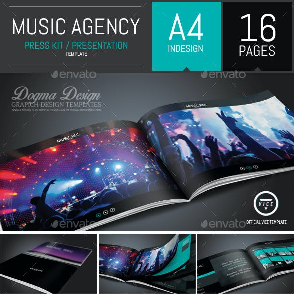 Vice: Dj and Booking Agency Portfolio Brochure
