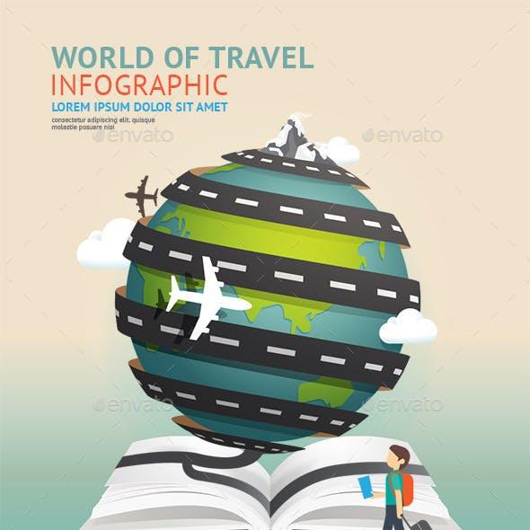 Set of World Travel Template Design