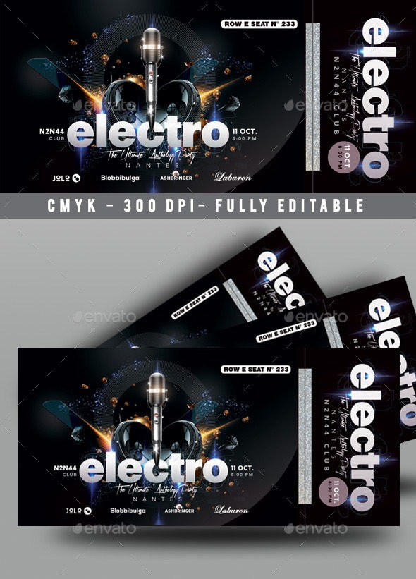 Concert Ticket - Miscellaneous Print Templates