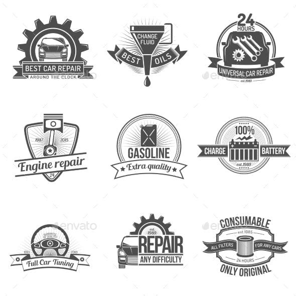 Auto Service Emblem